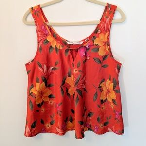 Victoria's Secret Heart Label Floral Cami Tank L